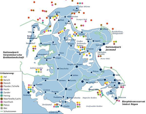 Karte Rügen.Insel Rügen Urlaub Sehenswürdigkeiten Hotels Unterkünfte Karte